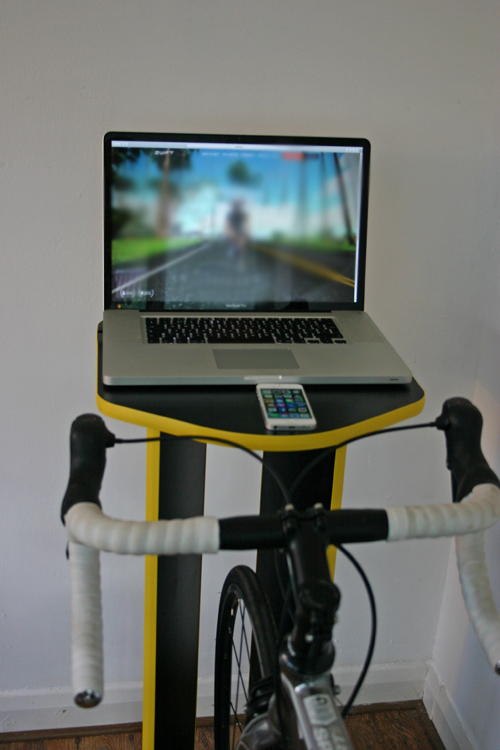 Turbo Trainer Table | desk stand | laptop ipad cycling indoors